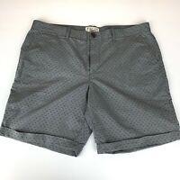 Men's Original Penguin By Munsingwear Gray Dotted Flat Front Shorts Sz 38