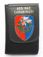 """Portafoglio con Placca """"Associazione Nazionale Carabinieri"""", in pelle."""