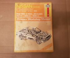 Nissan Datsun cherry Inc Turbo N12 Series Haynes manual 1982 to 1985