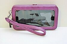 Mossimo Purple Wristlet Wallet Phone Compartment Sorry Not Sorry Graphic
