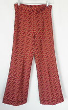 Vtg Montgomery Ward Disco Pants Flared Fit  High Waist  Size 8 (S/M)  Polyester