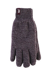 Heat Holders - Mens Cold Weather Warm Knit Insulated Lined Thermal Winter Gloves