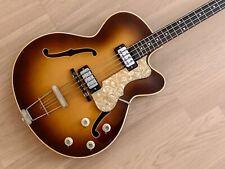 1960s Hofner President Bass 500/5 Vintage Bass Brunette w/ Staple Pickups & Case
