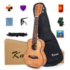 Kmise Tiger Flame Classical Concert Ukulele Solid Okoume 23Ukelele Hawaii Guitar