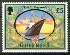Guernsey 1998, 5£ HMY Britannia ship set VF MNH, Mi 781 cat 18€