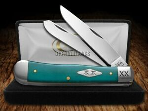 Case xx Smooth Caribbean Blue Bone 23120 Trapper 1/500 Stainless Pocket Knife