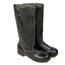German M39 Jackboots WWII WW2 High Quality Leather Men's Black Size 9