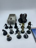 Star Wars Miniatures THE FORCE UNLEASHED 15 FIGURES WITH CARDS No Duplicates