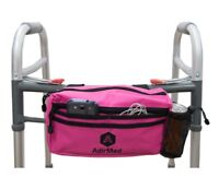 AdirMed Wheelchair Pouch - Rollator Pouch - Walker Pouch Pink