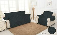 SOFA SLIP COVERS QUILTED Jacquard 1,2,3 Seater Sofa Cover Pet Protector Throw