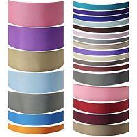 Plain Premium Satin Ribbon - Premium Quality Craft Metres Discounts