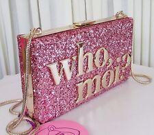 Kate Spade Disney Miss Piggy Who Moi Clutch Shoulder Bag Glitter w/Dust Bag NWT