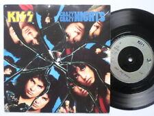 """Kiss Crazy Crazy Nights 7"""" Vertigo KISS7 EX/EX 1987 picture sleeve, Crazy Crazy"""