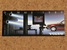 1989 VOLVO RANGE Sales Brochure (FRENCH) 780 760 740 480 440 240 340 - MINT