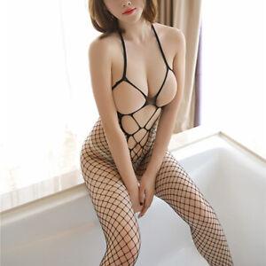 Sexy Bodystocking Bodysuit Womens Lingerie Plus Size Fishnet Body Stocking Sissy