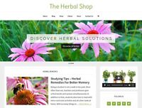 [NEW DESIGN] * HERBAL STORE *  ecommerce website business for sale AUTO CONTENT