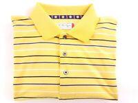 Ben Hogan XL Mens Polo Short Sleeve Shirt Yellow Striped Golf Shirt EUC