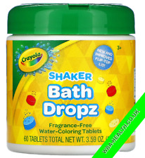 CRAYOLA,COLOR, SHAKER BATH DROPZ 60 TABLETS (028)