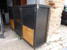 Fabrication meuble sue mesure Buffet industriel mètal & bois création sur mesure