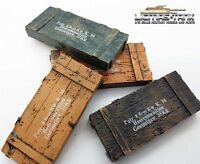 4 x Munitionskiste Mehrfarbig 8.8cm Kw. K.36 Maßstab 1:16 Resin lackiert