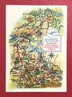 Reklame AK DEUTSCHE LUFTHANSA 1958 Flugstrecke Berlin Leipzig Dresden ( 62870
