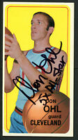 Don Ohl #128 signed autograph auto 1970-71 Topps Basketball Trading Card