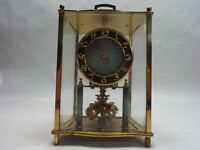KUNDO CLOCK KIENINGER OBERGFELL Brass GLASS WEST GERMANY Not Working