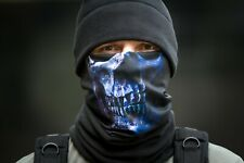 Combined Black Neck Gaiter Scarf Face Mask Skull