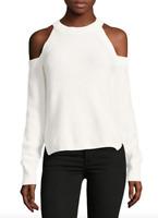 Rag & Bone / Jean Womens White Dana Cold Shoulder Sweater Sz S 10452