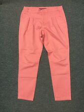 Zara Basic Chino Pant Casual Denim Hose Jeans Rosa Gr M 38 Top Zustand