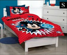 SINGLE BED DISNEY MICKEY MOUSE QUILT DOONA COVER SET & PILLOWCASE - Gift