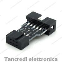 Adattatore programmatore USBASP USBISP bootloader 10 6 pin (arduino-compatibile