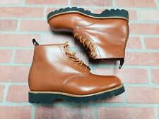 MARK MCNAIRY MADE IN ENGLAND Waxy Derby Boots Size UK 9 US 9.5 peanut butter