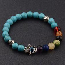 Fashion Men Natural Stone Energy Yoga Reiki 7 Chakra Women Handmade Bracelets