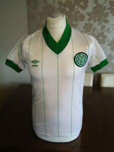 """GLASGOW CELTIC Original 1982 UMBRO Away Shirt 34-36"""" No Sponsor Rare Old Vintage"""