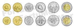 GHANA UNC SET OF 6 COINS 1 5 10 20 50 100 CEDIS 1984 - 1999 BIMETAL