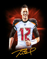 TOM BRADY Facsimile Signed 8x10 Photo Autographed Tampa Bay Buccaneers BUCS NFL