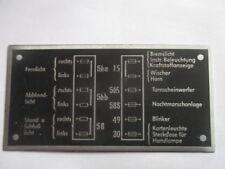 Nameplate S39 Shield DDR IFA VEB ludwigsfelde P3 Sachsenring Fuses