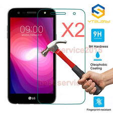 2Pcs 9H+ Premium Tempered Glass  Screen Protector For LG X Power 2 / K10 Power