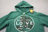 "Life Is Good Men Green ""DO WHAT YOU LOVE"" Full Zip Sweatshirt Hoody Jacket NWT S"