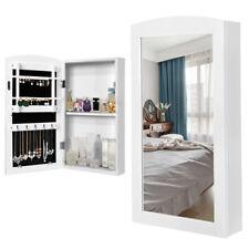Specchiera Portagioie Parete Armadietto con Specchio Muro Porta Gioielli 60x30cm