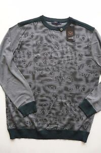 CASLY & SHARK SILK/WOOL BLEND GRAY/GREEN COLOR PULLOVER sz M NWT