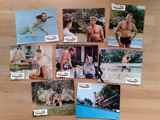 THE SWIMMER Burt Lancaster 1968 rare set of 8 German lobby cards  FRANK PERRY