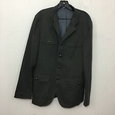 Hugo Boss Men's Blazer 38R Gray Textured Stretch Cotton Jacket Sport Coat