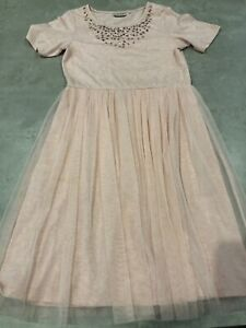 NEXT Girls Age 11 Years Pink Jewels Dress - Excellent Condition