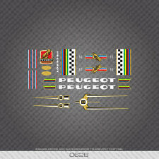 0628 Peugeot Bicycle Frame Stickers - Decals - Transfers