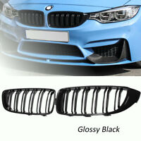 GLOSS BLACK FRONT SPORT KIDNEY GRILLE GRILLES FOR BMW F32 F33 F36 4 SERIES