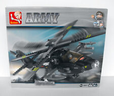 Sluban USA Army Helicopter 15 inch  Modelkit BUILDING BLOCKS MINT in box