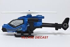 "2014 Matchbox ""Battle Mission"" Mission Helicopter™ BLUE / MINT"