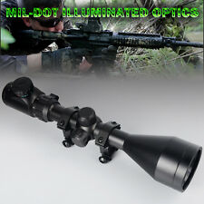 New 3-9x 56 Magnification Optical Rifle Scope w/ Mounts & R4 Reticle for Hunting